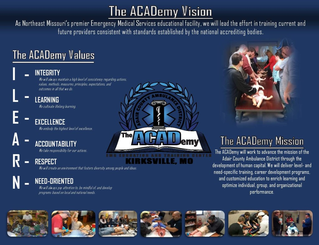 ACADemy Mission Vision Values